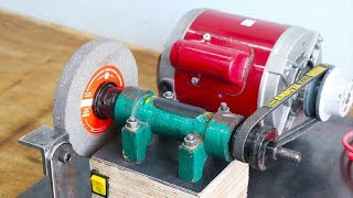 Download Make A Motor Powered Grinding Machine || Homemade Grinder || Part 1 Video