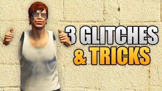 Download GTA 5 Online - 3 NEW GLITCHES & TRICKS (Instantly Spawn Cars, Invisible Body Parts & Hiding Spot) Video
