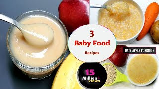 Download 3 Baby food recipes || 7 to 12 months baby food || Healthy & tasty baby food Video