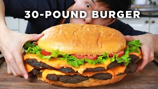 Download I Made A Giant 30-Pound Burger Video