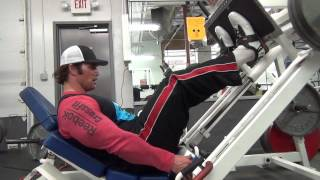 Download Mike O'Hearn shows you 3 different ways to do leg presses in Risto Sports lifting shoes Video
