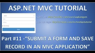 Download Part 11 - Insert data into database in ASP MVC | Submit a Form and Save Record | HD Video Video