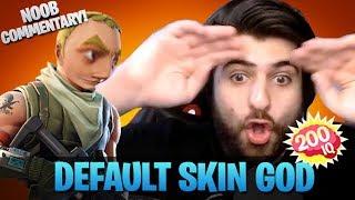 Download Default Skin God - Noob Commentary (Fortnite Battle Royale) Video