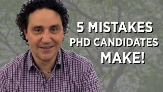 Download 5 Mistakes PhD Candidates Make! Video