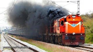 Download HARDCORE Smoking Diesel ALCo Twins | Vivek Express | Indian Railways Video