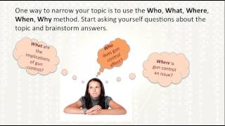 Download Selecting a Research Topic & Formulating a Research Question Video