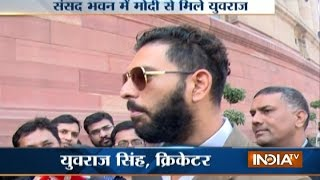 Download Yuvraj Singh Meets PM Modi, Invites Him into his Marriage Video