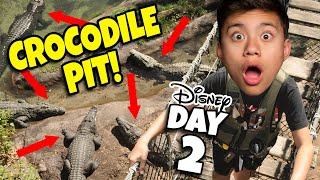 Download DON'T FALL IN THE CROCODILE PIT AT DISNEY WORLD!!! Playing in Toy Story Land After it Closes! Video