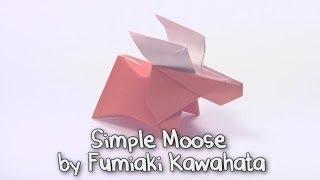 Download Origami Simple Moose by Fumiaki Kawahata   Cómo hacer origami de papel de alces Video
