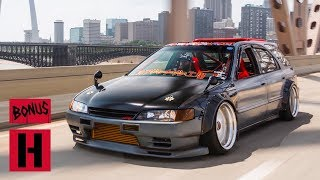 Download Honda Hot Rod – Part Accord, Part Nissan, a Tire-Slaying RWD Wagon Video