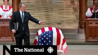 Download World leaders meet at George H.W. Bush's funeral Video