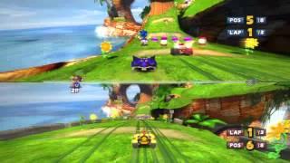 Download Sonic & Sega All-Stars Racing Split Screen Video