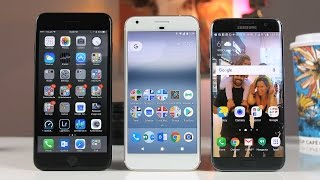 Download iPhone 7 Plus vs S7 Edge vs Google Pixel XL Review - The Best Smartphones of 2016? Video