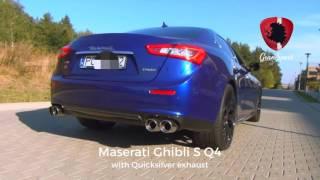 Download Maserati Ghibli S Q4 w/ Quicksilver exhaust and Novitec Tridente carbon Video