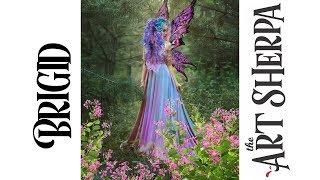 Download Brigid Spring Queen Fairy Acrylic Painting tutorial BAQ #2 Video