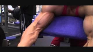 Download Huge FBB Alina Popa big biceps exercise & pose Video