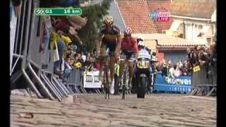 Download Cancellara attacks Boonen on Muur to win 2010 Tour Of Flanders Video