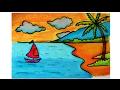 Download cara menggambar pantai yang mudah dengan krayon untuk anak anak - versi cepat Video