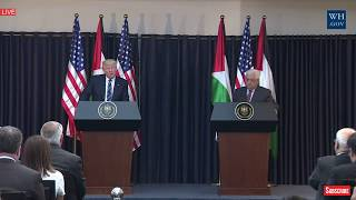 Download POWERFUL: President Donald Trump Palestine Speech, Press Conference President Abbas,Bethlehem Speech Video