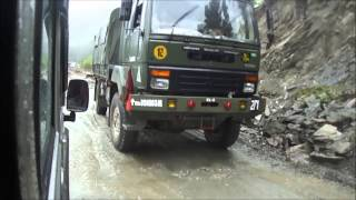 Download Indian Army Trucks Queue At Sikkim Border Video