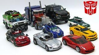 Download Transformers 3 Autobot OptimusPrime Bumblebee Sideswipe Dino Ratchet Ironhide Wreckers Car Robot Toy Video
