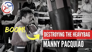 Download On Fire| Pacquiao Training for Thurman | He is Destroying the Heavy Bag!!! Video