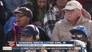 Download Thousands gather in downtown Las Vegas for MLK Day parade Video