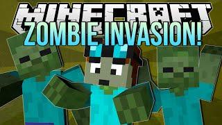 Download ZOMBIE INVASION | Minecraft: Blocking Dead Minigame! Video