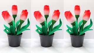 Download Cara Membuat Bunga Tulip dari BOTOL PLASTIK BEKAS calpico | Plastic Bottle Craft Ideas Video