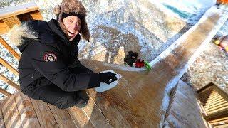 Download WE BUILT A HUGE ICE RAMP!! Video