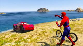 Download CARS 3 MOVIES Spiderman Hulk and Tow Mater Rescue Cruz Ramirez Underwater w/ 3d animation for kids Video