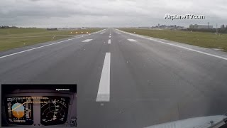 Download Must see: Takeoff Airbus A320 Birmingham BHX/EGBB with strong crosswind Video
