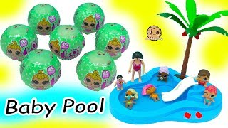 Download LOL Surprise Lil Sisters Babies Blind Bag Balls Color Change + Swim in Baby Water Pool Video