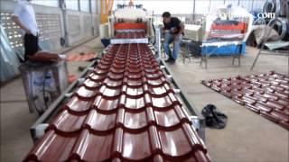 Download Máy cán tôn sóng ngói - Step tile machine - High Speed - Cơ Khí Vĩnh Lộc Video
