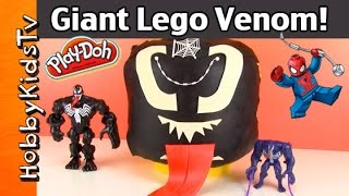 Download Giant Play-Doh Lego Head VENOM Makeover Video