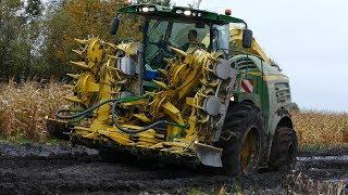 Download John Deere 8600i Working Hard in The Muddy Field During Maize / Corn Chopping | Häckseln 2017 Video