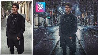 Download PicsArt Tutorial | Edit Rain Effect & Changing Background | Deny King Video