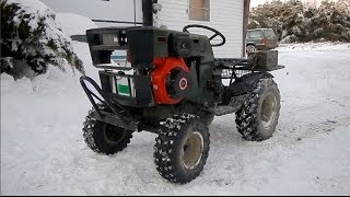 Download Diesel Mudding Tractor Cold Start & SNOW-ROMP! Video