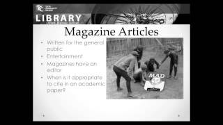 Download Journals, Newspapers, and Magazines @ TCC Library Video