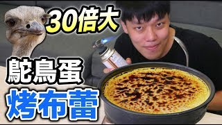 Download 【狠愛演】30倍大!鴕鳥蛋烤布蕾『味道驚為天人!』 Video