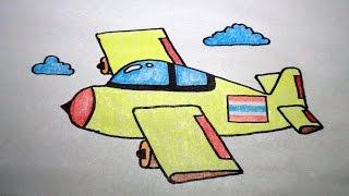 Download วาดรูป เครื่องบิน สอนวาดรูปการ์ตูนน่ารักง่ายๆ สอนวาดรูปการ์ตูนระบายสี How To Draw Airplane Cartoon Video