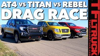 Download What's The Fastest New Off-Road Pickup? GMC vs Nissan vs Ram Drag Race (Gold Winch Ep.1) Video