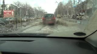 Download Road conditions in Togliatti city in spring time - 2 Video