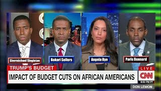 Download Biased Left Don Lemon Disrespects Black Conservative Paris Dennard in debate over Trump Budget Cuts Video