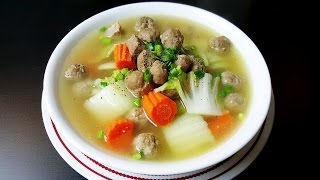 Download Meatball soup *( ស៊ុបស្ពៃបូកគោ ជាមួយ ប្រហិតសាច់គោ )* khmer Video