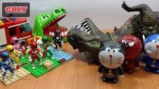Download siêu nhân Khủng long bạo chúa cá sấu cắn tay nobita doremon chế người nhện đồ chơi trẻ em toys kids Video