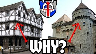 Download Why do medieval buildings overhang their lower floors? Video