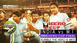 Download (HQ) HERO CUP FINAL 1993 INDIA VS WEST INDIES HIGHLIGHTS *Famous win for India* Video