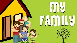 Download My Family - Family Vocabulary | Learn English Words For Family Members Video