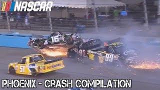 Download Nascar - 2017 - Phoenix - Crash Compilation Video